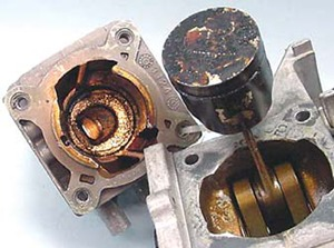 engine damage due to old stale fuel