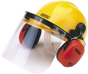 Draper 69933 Safety Helmet with Ear Defenders and Visor